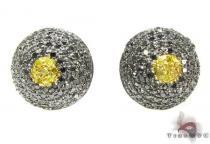 Large Diamond Beehive Earrings Mens Diamond Earrings