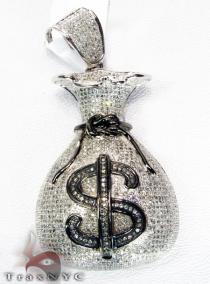 Hip Hop Jewelry - Money Bag Pendant Diamond Pendants