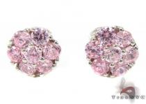 Pink Diamond Cluster Earrings Diamond Earrings For Women
