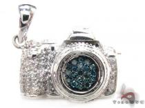 Blue Diamond Digital Camera Pendant Diamond Pendants
