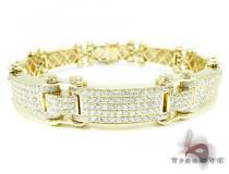 Pave Scroll Bracelet Mens Diamond Bracelets