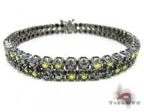 Black Diamond and Canary Bracelet Mens Diamond Bracelets