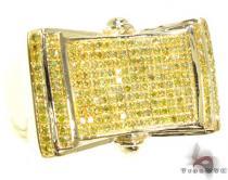 YG Canary Screws Ring Mens Diamond Rings
