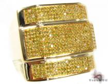 YG Canary Colossal Ring Mens Diamond Rings
