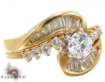 YG Double Swirl Ring ダイヤモンド 婚約 結婚指輪