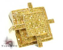 Canary Cross Ring Mens Diamond Rings