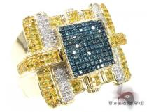 Multi Color Rifle Ring Mens Diamond Rings