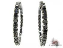 Black Diamond Hoops Diamond Hoop Earrings