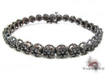 Black Diamond Cluster Flower Bracelet Diamond