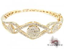 YG Cleo's Eye Bracelet Diamond & Gold Bracelets