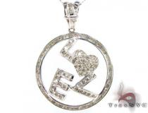 Love Circle Pendant 2 Diamond Pendants