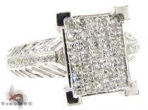 14K White Gold Diamond Fiji Ring Womens Diamond Rings