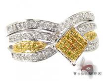 Canary & White Royal Ring Diamond Wedding Sets