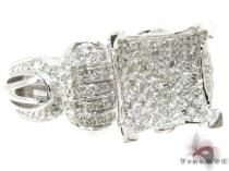 14K White Gold Diamond Thumbelina Ring Womens Diamond Rings