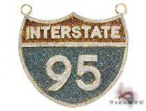 Custom Jewelry - I-95 (Interstate) Pendant 5.25 ct Metal