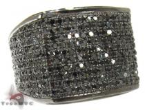 Mens Black Diamond All Around Wedding Ring Mens Black Diamond Rings