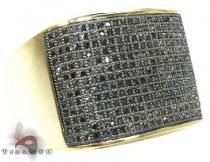 YG Black Wrap Ring Mens Black Diamond Rings