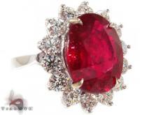 Ruby Flower Ring 4 ジェムストーン ダイヤモンド リング