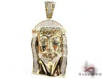 YG Large Invisible Jesus Pendant Diamond Pendants