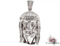 WG Large Invisible Jesus Pendant Diamond Pendants