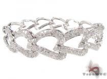 Pave Heart Link Bracelet 2 Diamond