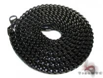 Black Stainless Steel Chain 24 Inches, 6mm, 82.1 Grams ステンレススティールチェーン