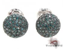 Blue Berry Studs 3 Stone