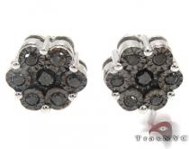 Black Cluster Earrings Mens Diamond Earrings