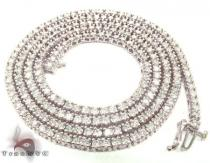 White Gold Diamond Chain 30 Inches, 3mm, 45 Grams Diamond Chains