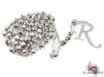 Custom R Initial Rosary Chain ダイヤモンド ロザリオ チェーン