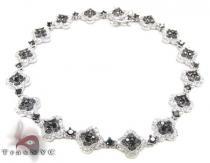Black Diamond Flowers Bracelet Diamond