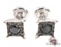 White Gold Kingdom Earrings Stone
