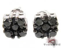 Black Berry Cluster Earrings 3 Mens Diamond Earrings