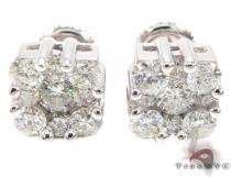 Flower Cluster Earrings Mens Diamond Earrings