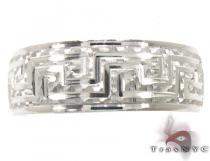 Mens Egyptian Design White Gold Wedding Ring メンズ ゴールド 結婚指輪