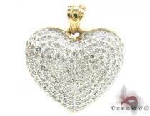 Yellow Gold Little Heart Pendant 3 ダイヤモンドペンダント