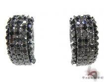 Black Night Earrings 2 Stone
