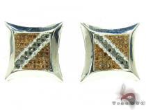 Red & Black SQ Earrings Stone