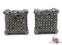 Black Diamond Ice Cube Earrings Mens Diamond Earrings