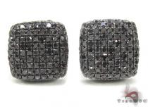 Black Diamond Pillow Earrings 2 Mens Diamond Earrings