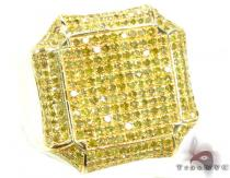 Canary Octagon Ring Mens Diamond Rings