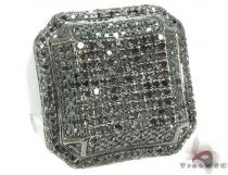 Black Octagon Ring 2 Mens Black Diamond Rings
