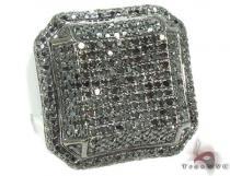Black Octagon Ring 2 Mens Black Diamond Rings