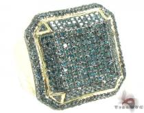 Blue Octagon Ring 2 Mens Diamond Rings