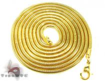 Yellow SS Snake Chain 30in, 2mm, 12.8 Grams Stainless Steel Chains