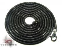 Black SS Snake Chain 30in, 3mm, 12.5 Grams Stainless Steel Chains