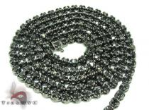 Black Diamond Chain 30 Inches, 4mm, 43 Grams Diamond Chains