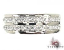 Two Row Wedding Band Mens Diamond Rings