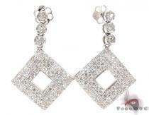 Bezel Wonder Earrings  レディース ダイヤモンドイヤリング