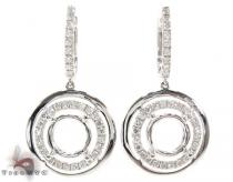 VS Saucer Semi Mount Earrings レディース ダイヤモンドイヤリング